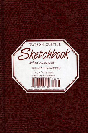 Small Sketchbook (Lizard, Burgundy) by