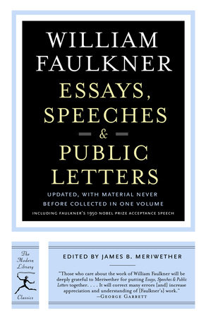Essays, Speeches & Public Letters by