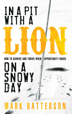 In a Pit with a Lion on a Snowy Day by