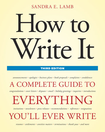 How to Write It, Third Edition by