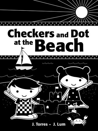 Checkers and Dot at the Beach by
