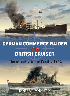 German Commerce Raider vs British Cruiser by