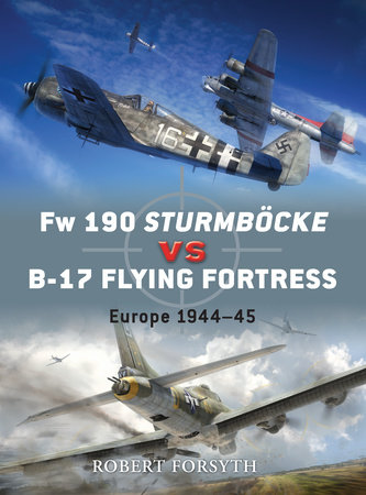 Fw 190 Sturmbocke vs B-17 Flying Fortress by Robert Forsyth