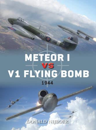 Meteor I vs V1 Flying Bomb by Donald Nijboer