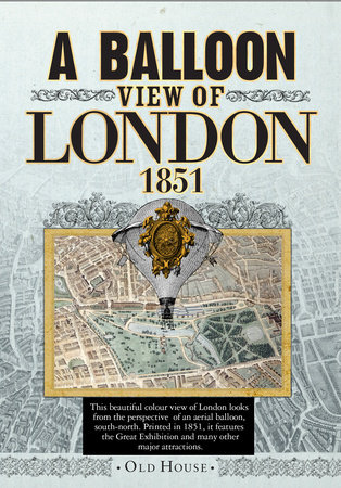 Balloon View of London, 1851 by Banks & Co.