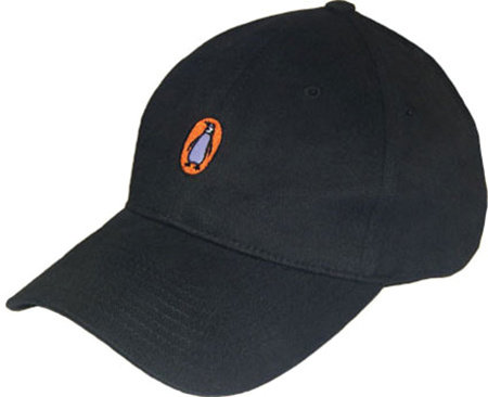 Baseball Cap: Penguin Logo (Black)