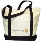 Tote: I'd Rather Be Reading (White)