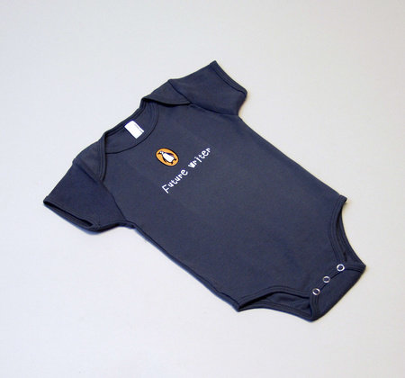 Penguin Onesie: Future Reader (6-12 mos) Heather Gray