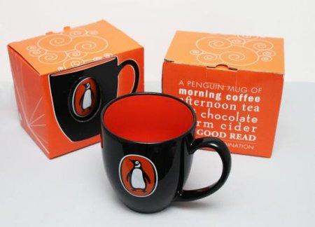 Penguin Mug: Logo Bistro (White)