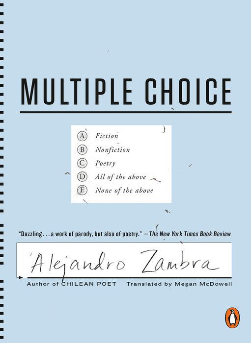 Multiple Choice by Alejandro Zambra