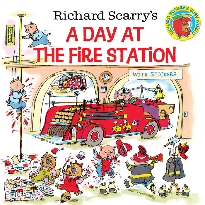 Cover of Richard Scarry\'s A Day at the Fire Station