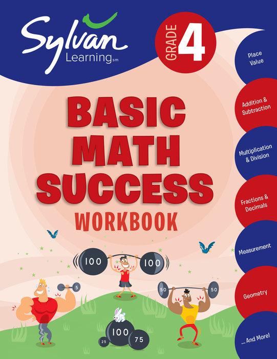 Cover of 4th Grade Basic Math Success Workbook
