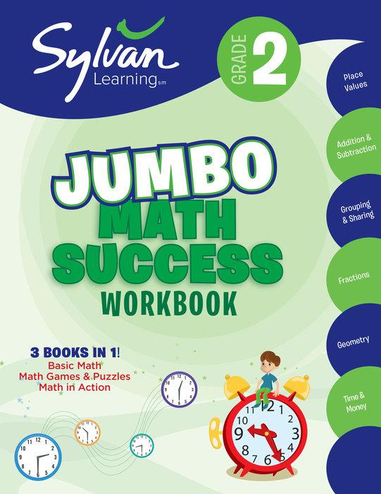 Cover of 2nd Grade Jumbo Math Success Workbook