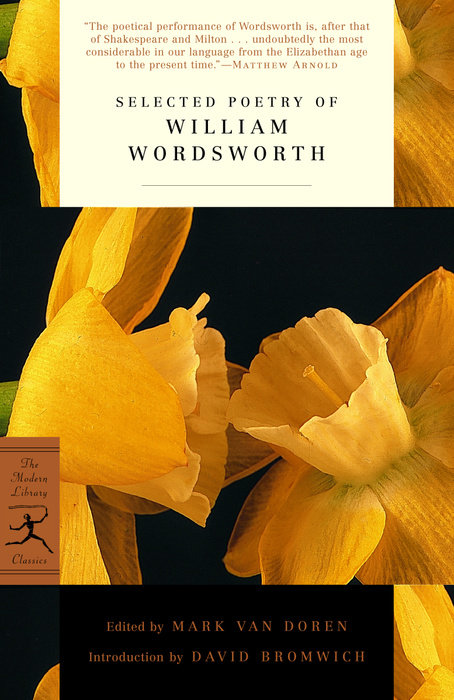 Selected Poetry Of William Wordsworth Random House Books