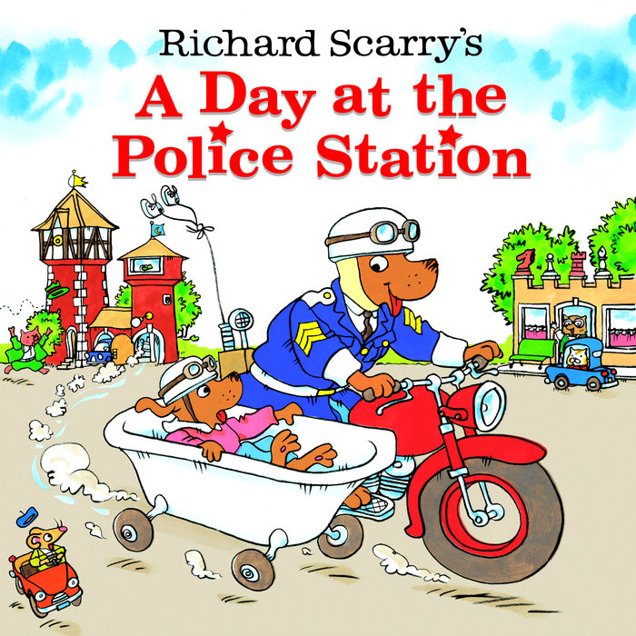 Cover of Richard Scarry\'s A Day at the Police Station