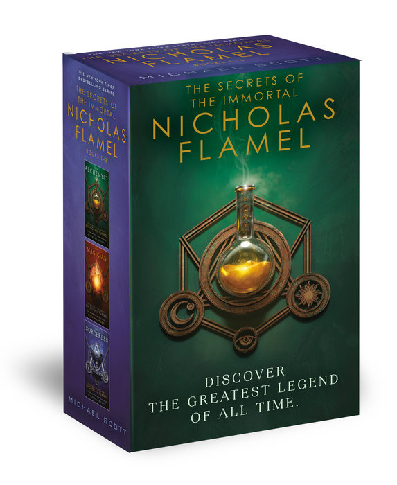 Cover of The Secrets of the Immortal Nicholas Flamel Boxed Set (3-Book)
