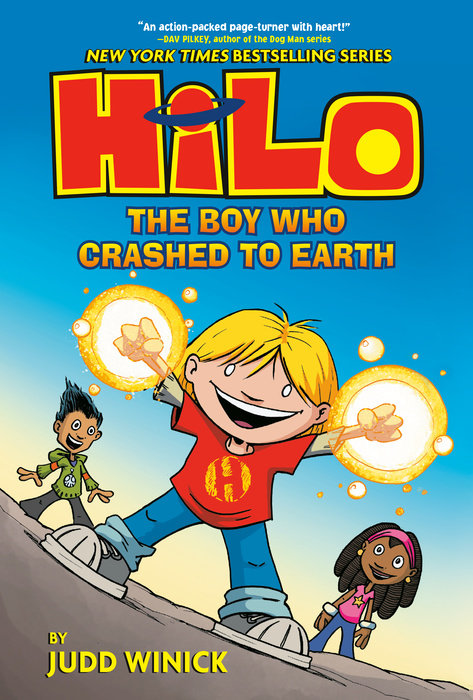 Book cover for Hilo Book 1: The Boy Who Crashed to Earth