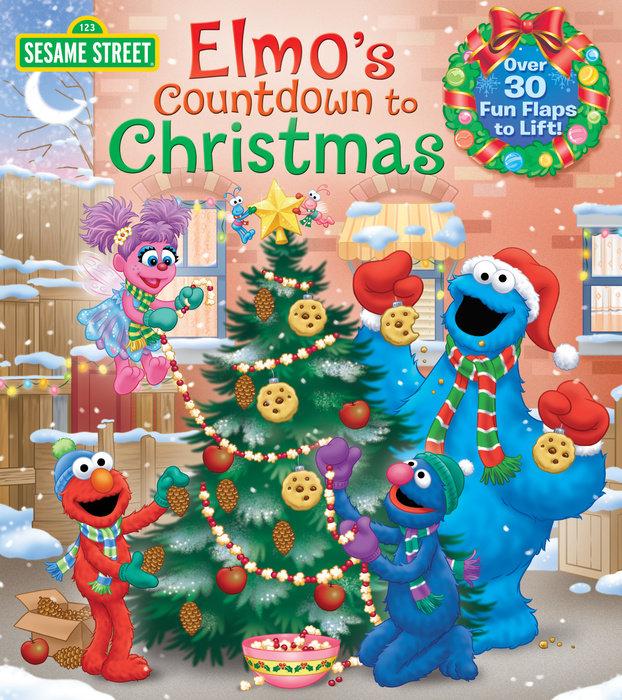 Book cover for Elmo\'s Countdown to Christmas (Sesame Street)