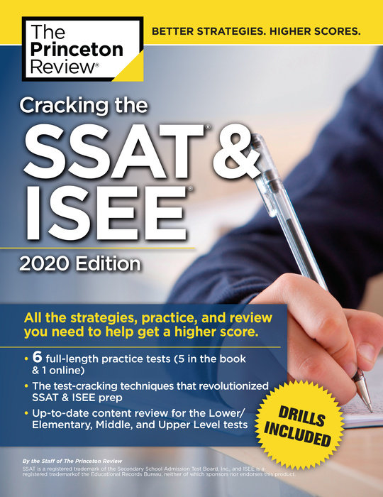 image about Printable Ssat Practice Test named Cracking the SSAT ISEE, 2020 Variation - The Princeton