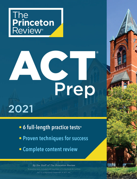 Cover of Princeton Review ACT Prep, 2021