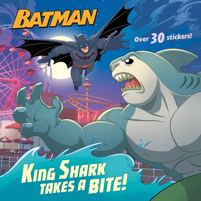 Cover of King Shark Takes a Bite! (DC Super Heroes: Batman)