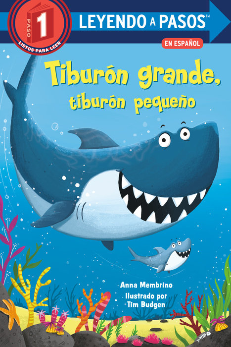 Cover of Tiburón grande, tiburón pequeño (Big Shark, Little Shark Spanish Edition)