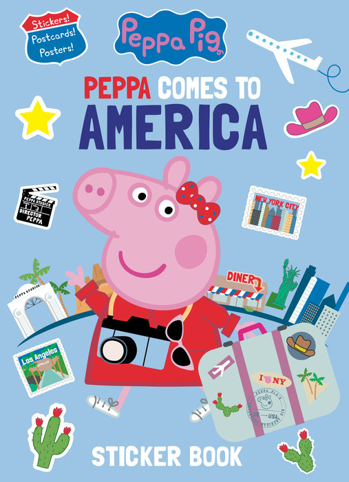 Cover of Peppa Comes to America Sticker Book (Peppa Pig)
