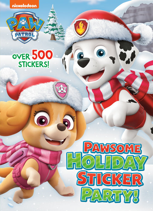 Cover of Pawsome Holiday Sticker Party! (PAW Patrol)