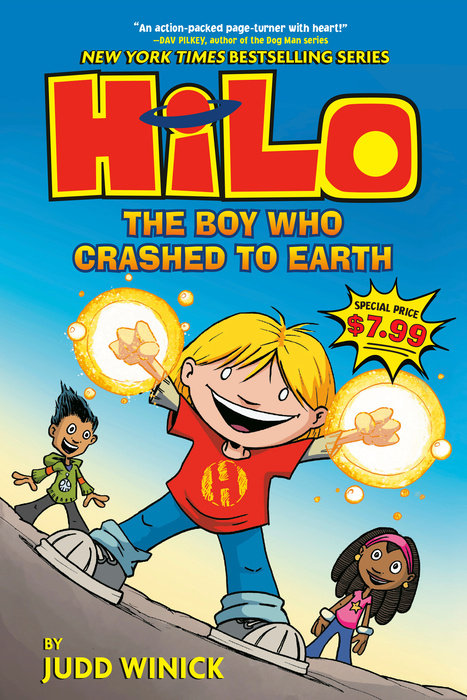 Cover of Hilo Book 1: The Boy Who Crashed to Earth
