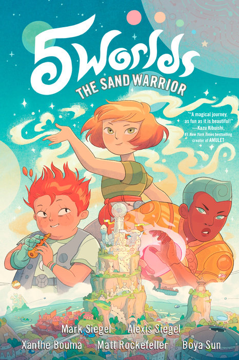 Book cover for 5 Worlds Book 1: The Sand Warrior