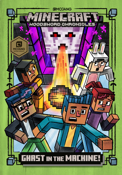 Cover of Ghast in the Machine! (Minecraft Woodsword Chronicles #4)
