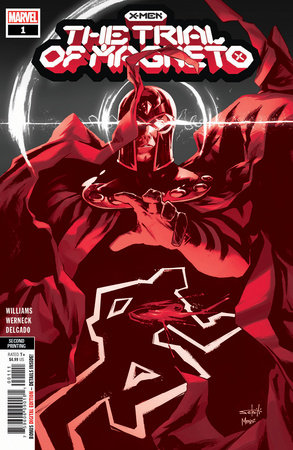 X-MEN: THE TRIAL OF MAGNETO 1 SCHITI 2ND PRINTING VARIANT
