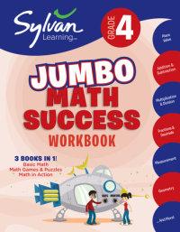 Book cover for 4th Grade Jumbo Math Success Workbook