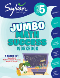 Book cover for 5th Grade Jumbo Math Success Workbook