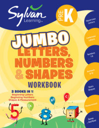 Book cover for Pre-K Letters, Numbers & Shapes Jumbo Workbook