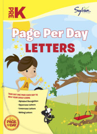 Book cover for Pre-K Page Per Day: Letters