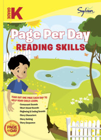 Book cover for Kindergarten Page Per Day: Reading Skills