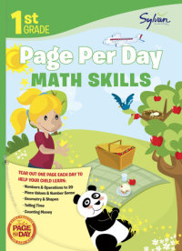 Book cover for 1st Grade Page Per Day: Math Skills