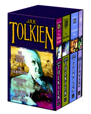 Tolkien Fantasy Tales Box Set (The Tolkien Reader, The Silmarillion, Unfinished Tales, Sir Gawain and the Green Knight)