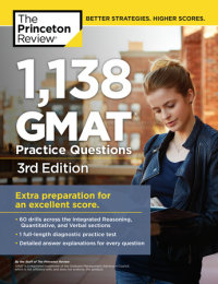 Book cover for 1,138 GMAT Practice Questions, 3rd Edition