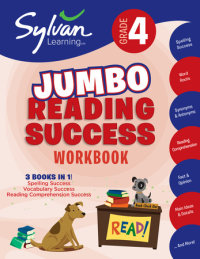 Book cover for 4th Grade Jumbo Reading Success Workbook
