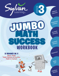 Book cover for 3rd Grade Jumbo Math Success Workbook