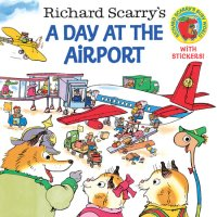 Book cover for Richard Scarry\'s A Day at the Airport