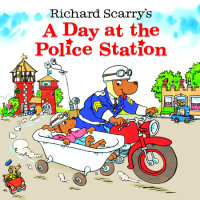Book cover for Richard Scarry\'s A Day at the Police Station