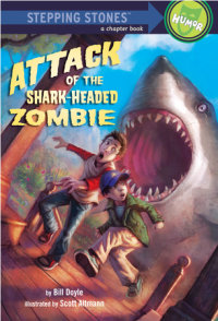 Book cover for Attack of the Shark-Headed Zombie