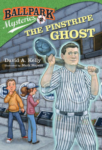 Book cover for Ballpark Mysteries #2: The Pinstripe Ghost
