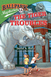 Book cover for Ballpark Mysteries #11: The Tiger Troubles