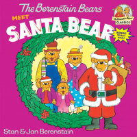 Book cover for The Berenstain Bears Meet Santa Bear
