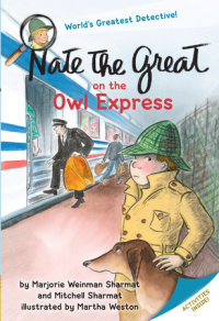 Book cover for Nate the Great on the Owl Express