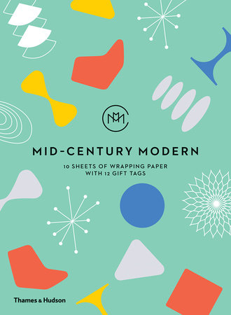 Mid century modern 10 sheets of wrapping paper with 12 - Mid century modern gifts ...